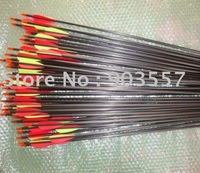 Quiver for free Archery hunting arrow mixed carbon arrow 75cm 25pcs/lot free shipping