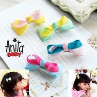 Girls' Hair Accessories Baby hair bows hairs clip infant grosgrain ribbon bows A010
