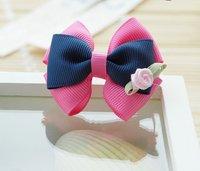Girls' Hair Accessories Baby hair bows hairs clip infant grosgrain ribbon bows A013