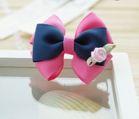 Girls' Hair Accessories Baby hair bows hairs clip infant grosgrain ribbon bows A013