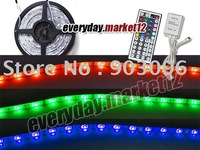 5M Waterproof RGB Flash 5050 LED strip light + 44 keys IR Remote Controller S