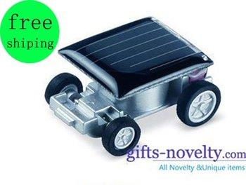 Top Quality 30 Pcs/Lot novelty solar car/world smallest mini solar car/cars+EMS Free Shipping