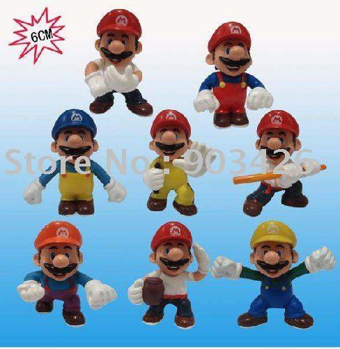 Free shipping!! 2011 Fashion Super Mario Figure PVC Toy Figure Figure Model (8pcs/set) G009 on sale  Wholesale
