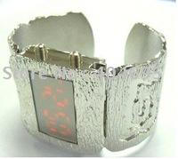 Free shipping 10pcs  Metal LED bracelets watch fashion led watch G1079