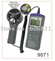 free shipping  Anemometer Logger/Dataloggers with programmer/Air flow  datalogger w/programmer 9671