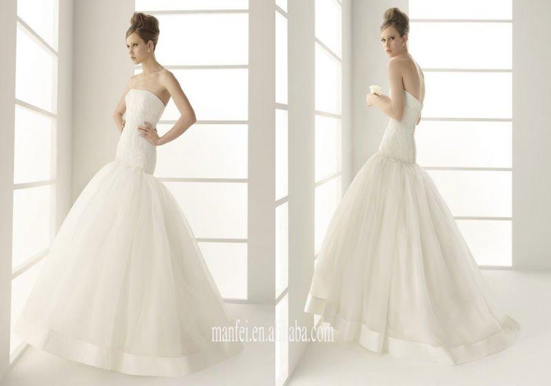 projeto famoso vestido de noiva lindo cauda de sereia vestidos de noiva, MPW-106(China (Mainland))