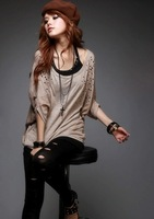 2011 Summer New style rivet bat sleeve women's t shirt, free DHL shipping