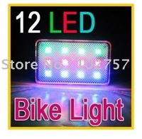 RGB 12 LED 3 mode Flashing Rear Caution Light for Bike Bicycle Sports Travel Mountaineering bag