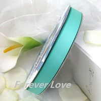"FREE SHIPPIN --  Robin's Egg Blue 3/8"" 100Y  QUALITY Satin Ribbon Wedding Party Craft BowRaspberry"