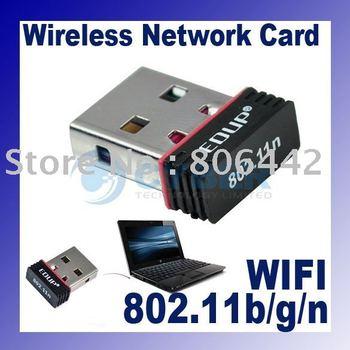 Free Shipping Mini 150M USB Wireless Network Card 802.11b/g/n WiFi LAN Adapter