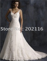 New Fashion Design Mermaid/Trumpet Wedding Dresses Sleeveless/Backless Satin Court Train Maggie Adorae No.YY122