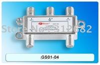 4 Way CATV Cable TV Antenna RF Signal Combiner Splitter, Satellite Splitter,4 way splitter, 5-2400MHz,  free shipping