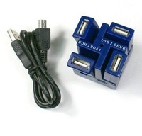 Free Shipping New High Speed 4-port USB 2.0 HUB 5pcs/lot