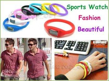10PCS New Fashion Sports Silica Gel Ion Wrist Watch Bracelet - JX931