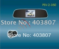 12voltage waterproof CMOS CCD reversing camera 3.5 inch rear-view mirror TFT display  PSV-350