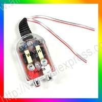 Car Converter High/Low Adapter Speaker to RCA Line New Free Shipping [CP510]