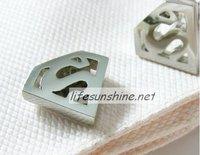 FreeShipping-Factory Offer wholesale Brand new 2010 Cuff links Superman Cufflinks