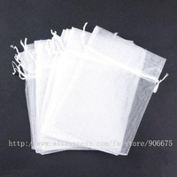 """Free Shipping! 7""""X5"""" Pure White Organza Bags Jewelry Pouch Gift Bags Wedding Favor Wholesale"""