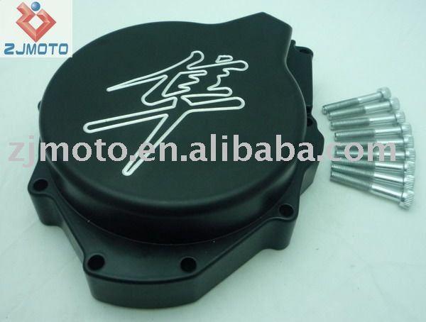 Preto lingotes de alumínio do estator do motor tampa para 1999-2007 GSXR 1300 Hayabusa(China (Mainland))
