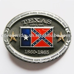 Belt Buckle (Confederate Texas State Flag)(China (Mainland))