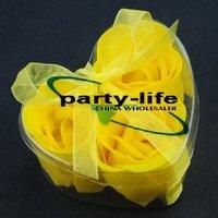Yellow 3pcs/set Handmade Wedding Favor Rose Bud Petals Soaps,gift sets for Valentine wedding,100sets/lot,free shipping