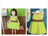 B2W2 NEW ITEM girls summer dress princess dress two colors#247