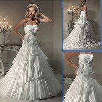 HS9928 cheap Free Shipping best selling 100% Guaranteed Floor-length taffeta bridal dress