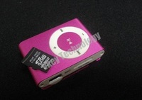 Free shipping 10pcs/lot Clip mini Mp3 player with card slot