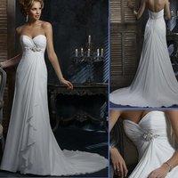 HS9938 cheap Free Shipping100% Guaranteed Floor-length A-line chiffon bridal dress