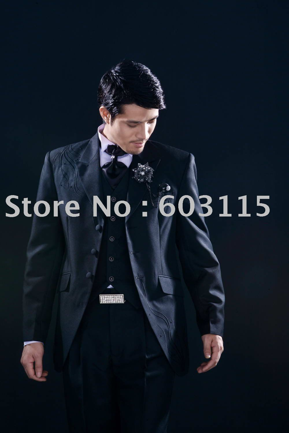 JLH080014A 2012 Men complete designer wedding Bridegroom suit/Groom wear /Tuxedo /tail coat(Clothes+Pants+tie+shirt)(China (Mainland))