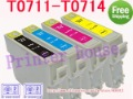 (1sets/lot)Compatible ink cartridge T0711 T0712 T0713 T0714 for EPSON Stylus D78/D92/D120/DX4000/DX4050/DX4400/DX4450/ DX5000