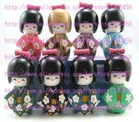 Free Shipping Lot 50pc Oriental Japanese Kokeshi dolls wooden  5.3 inch / 13.5 cm