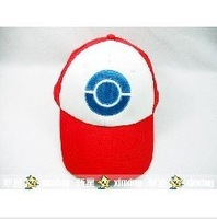 free shipping  Pokemon Pikachu Ash Katchum Hat Cap Cosplay Anime 001
