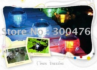 Free Shipping New Solar Pond Fountains Garden Water Waterproof Float Floating LED Light Ball Sealed Silicon Gel
