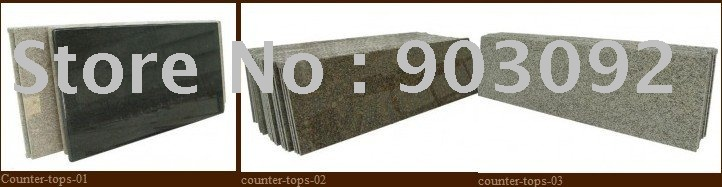 different colors prefab granite countertops for kitchen cabinets vanity tops with matching sinks(China (Mainland))
