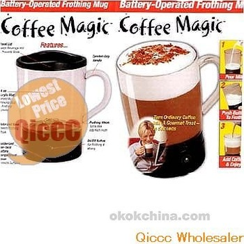 Wholesale 24pc/lot Coffee Maker,Coffee Magic Battery-Operat Frothing Mug As seen on tv[50off EMS]
