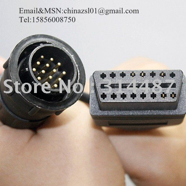 14Pin to 16Pin Adaptor connector Diagnostic Tool with free shipping(China (Mainland))