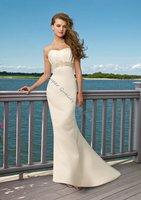 Top Popular Beaded Off-Shoulder Floor-Length A-Line Wedding dress,Bride Dress,Custom Size and Color
