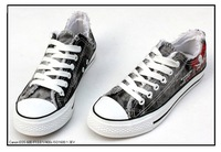 Free shipping 2011 European style ladies' canvas shoes rubber hole EUR SIZE 34 35 36 37 38 39 40 41 42 43 WFS010