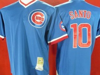 Free shipping- Top Quality Chicago Cubs Jerseys #10 Ron Santo Bule Jerseys,baseball jersey,sports jerseys
