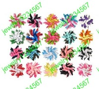 top quality girl flowers Children''s rscurle bows flowers,hair sbarrette korker ribbon hair 30pcs free shipping