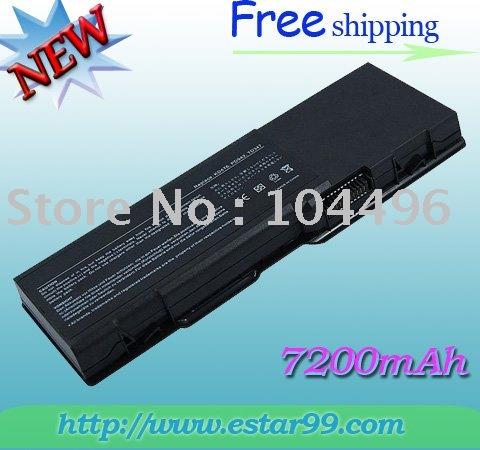 Free Shipping & 9Cell BATTERY For DELL Inspiron 6400 E1505 1501 GD761 KD476 11.1V 7200mAh(China (Mainland))