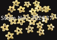 FREE SHIPPING 1500pcs Antiqued gold flat star bead caps A1236G