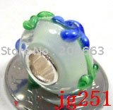 10pcs JP251 Murano Glass Bead with 925 sterling sivler core