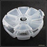 3x New Beads Display Storage Packing Plastic 8-Checks Box Jewelry Case White Transparent Boxes 120351