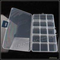 3x New Beads Display Storage Packing Plastic 15-Checks Box Jewelry Case White Transparent Boxes 120352