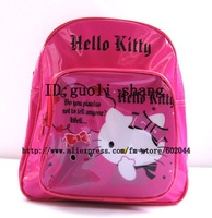 Feee shipping hello kitty  PVC purses Children's Backpack  schoolbag