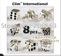 NO.Y018 8pcs silver/gold plated chamrs