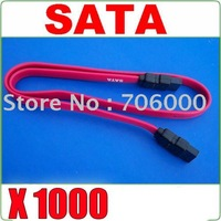 1000pcs New Serial SATA ATA Raid Data HDD Hard Drive Cable / Sata HDD Cable DHL Free Shipping