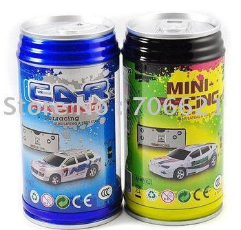FREE Shipping 48PCS/LOT 1:64 ShenQiwei Mini RC Car 2010B Coke Can Car High Speed Sport Micro Racing Car